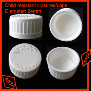 24mm Child resistant closure